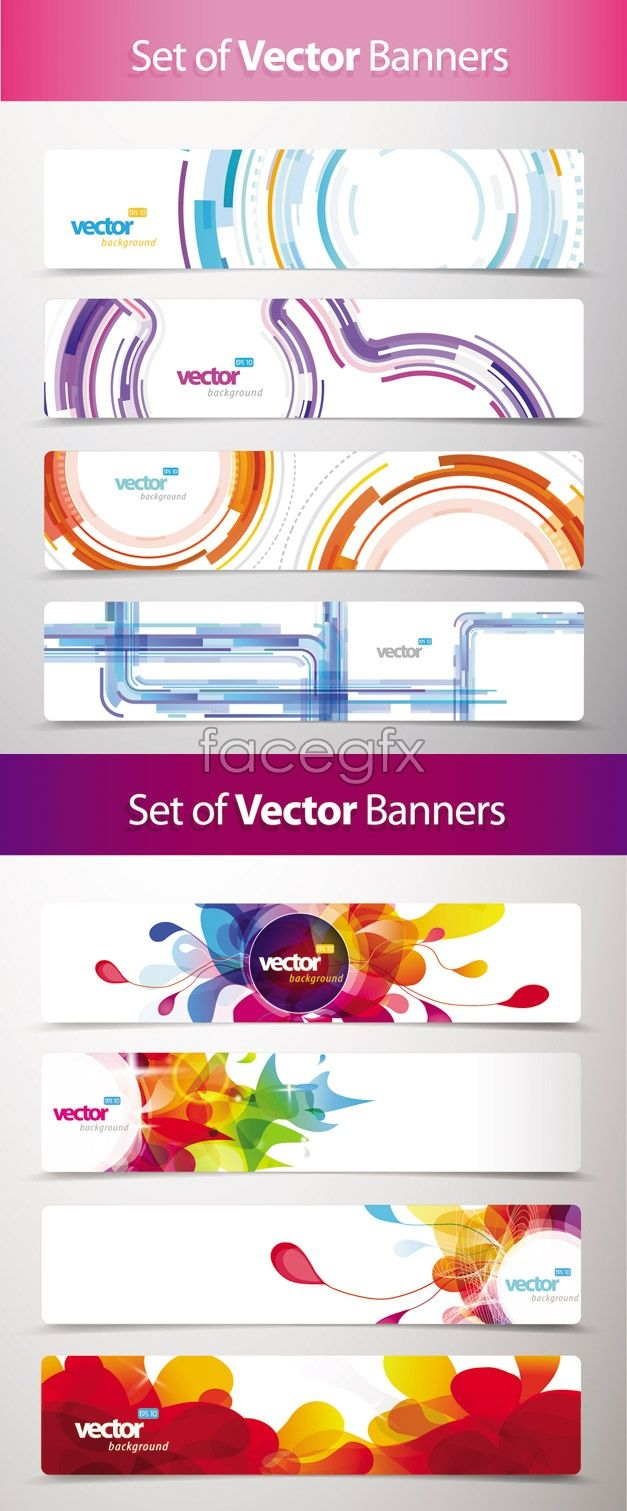 Current banner design vector