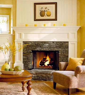 fireplace/mantle