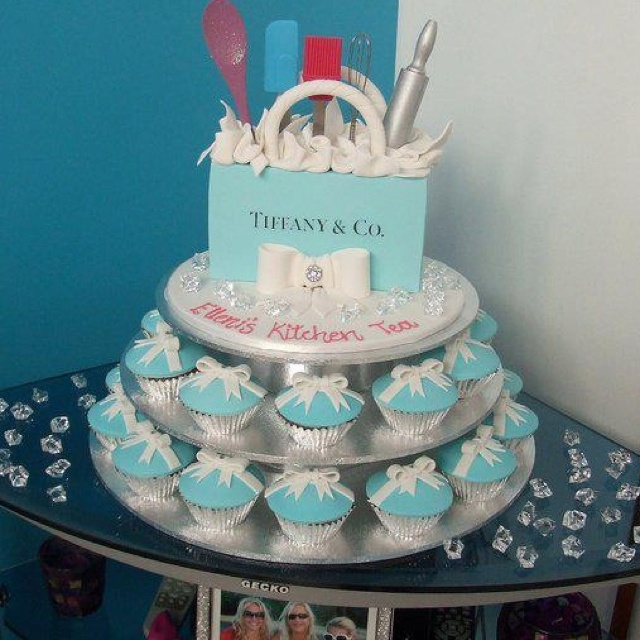 Tiffany cake kitchen tea