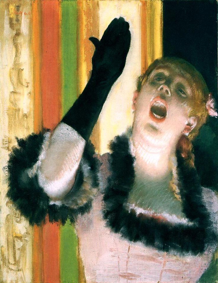 Эдгар Дега «Певица с перчаткой». Описание картины