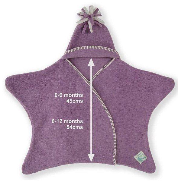 Fab idea on Star Fleece Baby Wrap Design | www.FabArtDIY.com