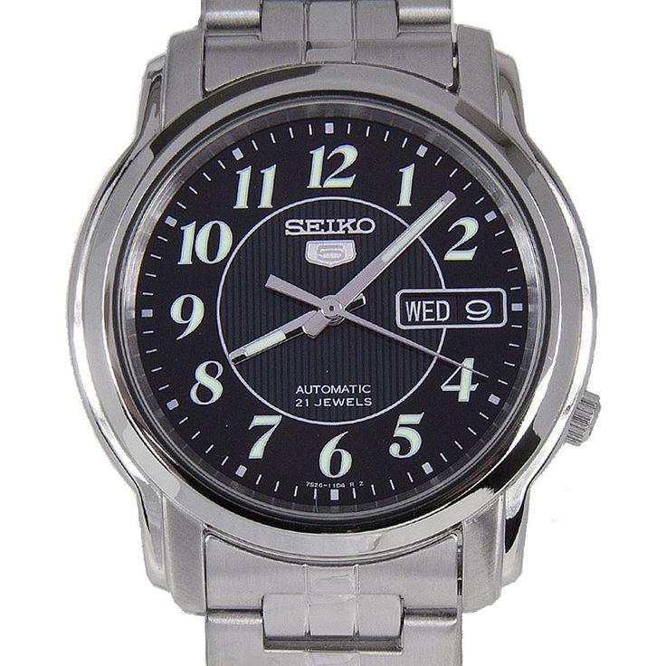 Chronograph-Divers.com - Seiko 5 Black Dial Mens Automatic Watch SNKL93K1 SNKL93, $45.00 (http://www.chronograph-divers.com/seiko-5-snkl93k1)