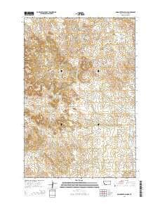 ~ Moon Creek School MT topo map, 1:24000 scale, 7.5 X 7.5 Minute, Current, 2014
