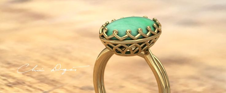 We made this ring for a customer using a jade cabochon. The ring is actually built AROUND the stone and lasered together with the stone in place. This is a new way to make things in precious metals and gemstones and we have developed it independently in our own style. #jewelryinnovation #lovewhatyoudo #jadecabochon #jadering #christopherduquet #customjewelrydesign #designerjewelry #chicagojeweler
