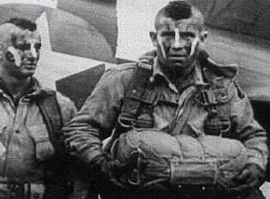 Paratroopers/Iroquois/ Mohawks and war paint WWII.