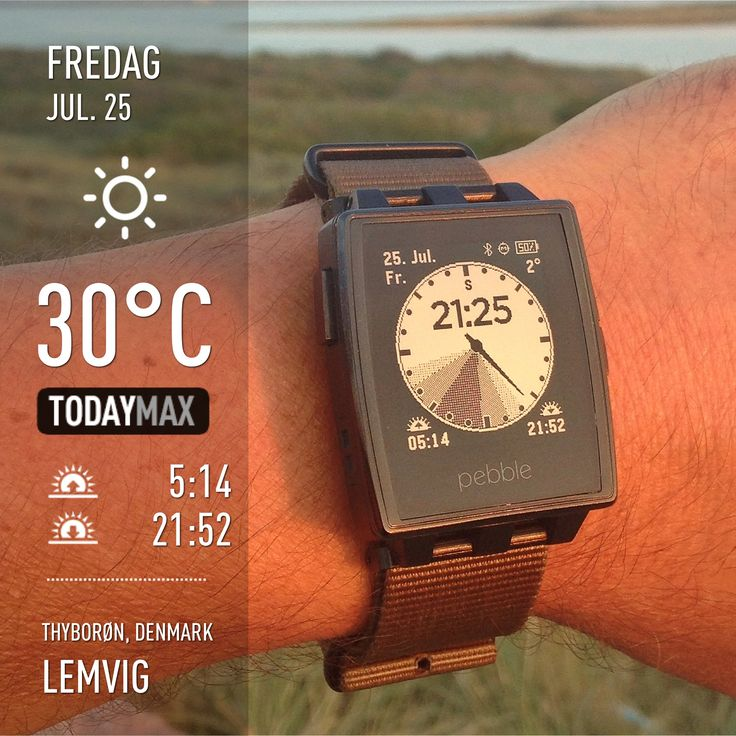 @Pebble #pebble: 25C, half an hour to sunset plus an hour of twilight... perfect time to take the dogs for a walk!