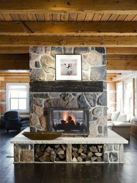 Wraparound Raised Hearth Fireplace