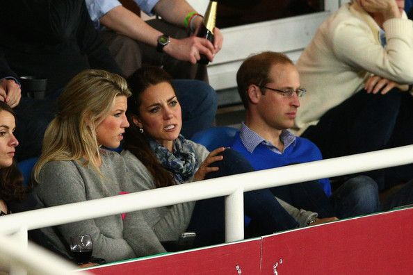 Prince William, Duke of Cambridge and Catherine, Duchess of Cambridge watch on during the round 10 Super Rugby match between the Waratahs and the Bulls at Allianz Stadium on April 19, 2014 in Sydney, Australia.