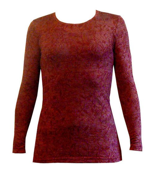 Merino Crew Neck Floral | Womens fashion Tops NZ