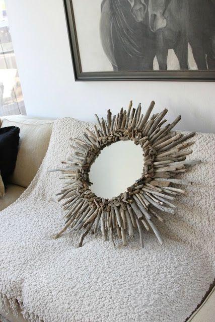 miroir de bois flotté