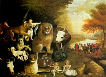 """The Peaceable Kingdom"" by Edward Hicks"