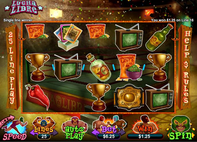 Dreams Casino 40 FREE Spins RTG Lucha Libre
