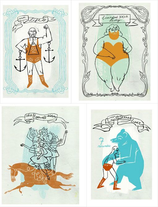 "Illustrations by Dan Bob Thompson ""Side Show Circus Book"""