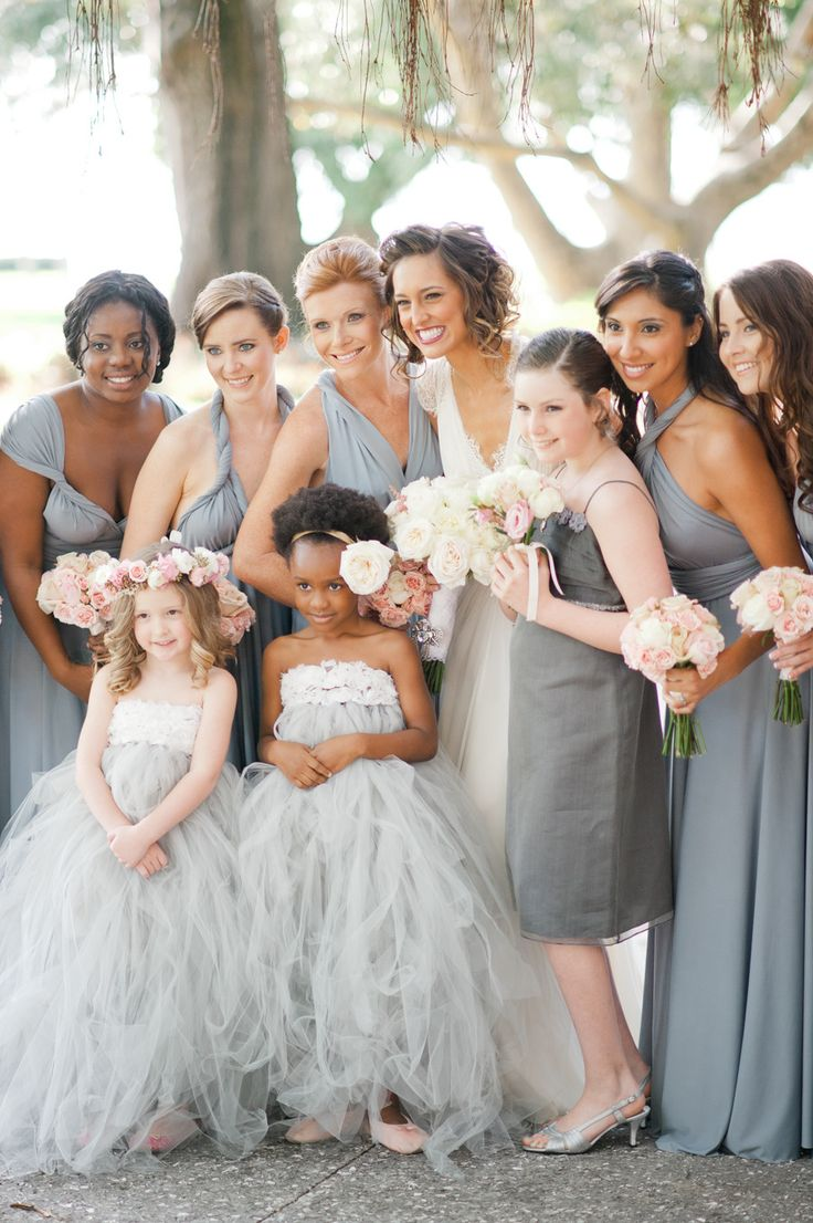36 best wedding bridesmaids images on pinterest bridal gowns sarasota fl wedding at ca dzan mansion pink gray weddingsgray bridesmaid dressesgray ombrellifo Gallery
