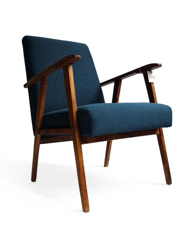 Fotel Niebieski - Lata 60/70 - AmoreMeble - Fotele