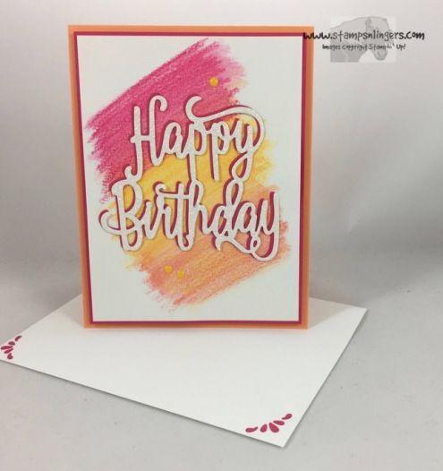 Stampin' Up! Watercolor Happy Birthday Thinlit Sneak Peek   Stamps – n - Lingers