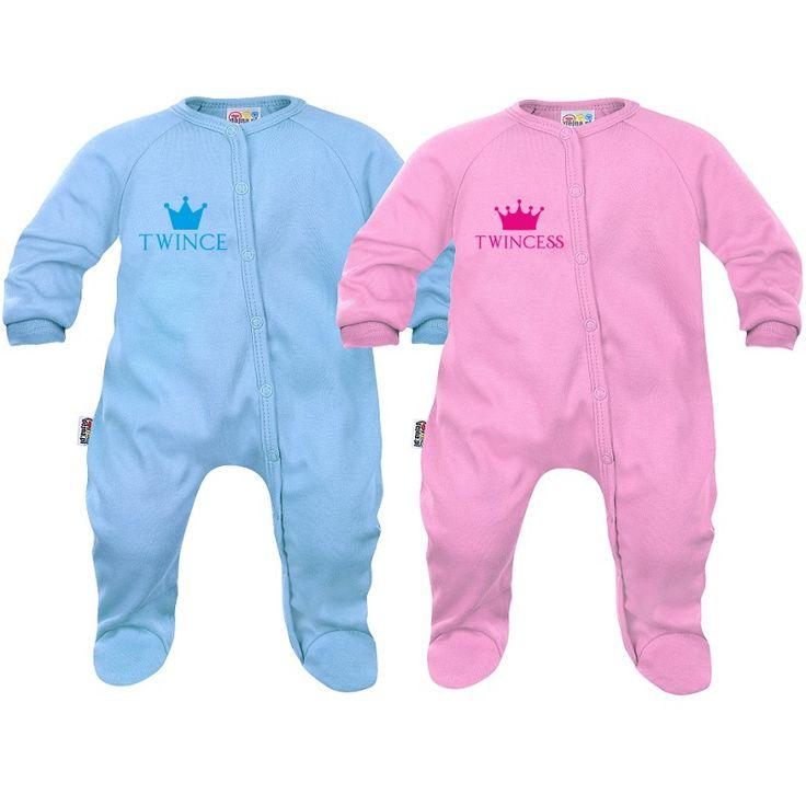 2 x pyjama bébé jumeaux et jumelles : twince / twincess - SiMedio