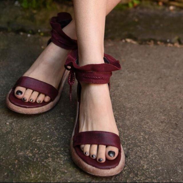 2016 estate design originale handmade scarpe donna vera pelle di alta tacchi spessi inferiori sandali delle donne