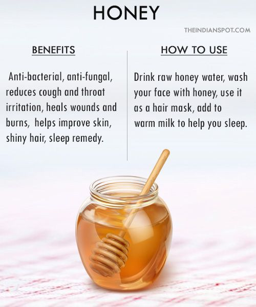 To use #honey for skin problems, simply apply it topically and wash off after 10 minutes. You can also add 1 tablespoon honey to 1 mug full water and use it as a last hair rinse to reduce dandruff and add shine to your hair. Mix honey with little ginger powder and have it several times a day to get relief from cold and cough symptoms.