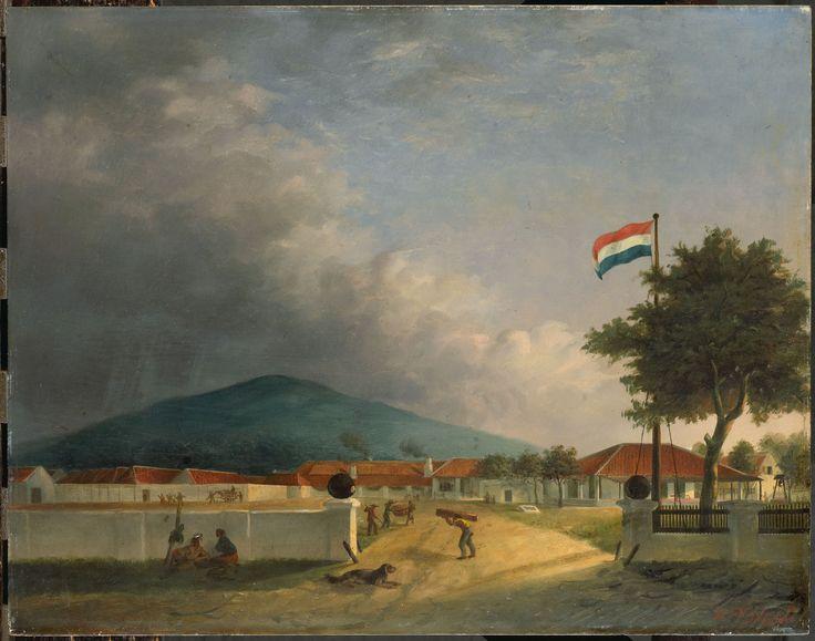 De suikerfabriek 'Kedawong' bij Pasoeroean op Java