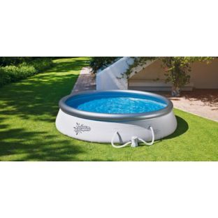 Buy quick up pool set 12ft white at your for Pop up paddling pool