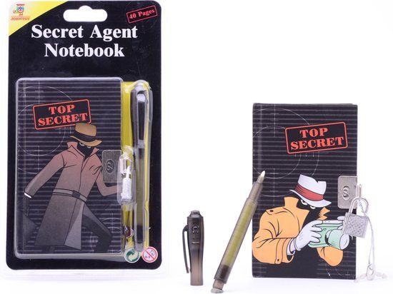 bol.com | Secret Agent notitieblok met geheime pen 2 assorti,Johntoy | Speelgoed