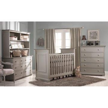 Neutral Furniture White Wood Floors Convertible Crib Sets
