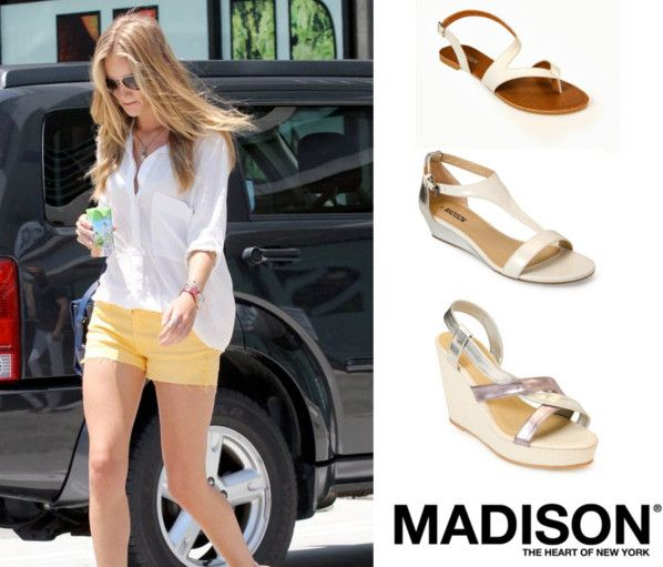 Choose silver sandals to go with Rosie Huntington-Whitely's laidback summer style. Get the New York, Natasha and Seattle sandal from www.madisonheartofnewyork.com follow us on Twitter @Madison Shoes SA