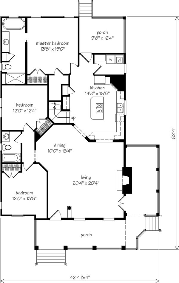 Southern living house plans first floor master for Best southern house plans