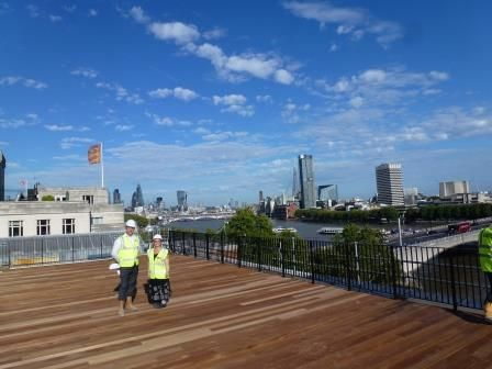 What a view what a site visit - @HBAA2015 #bigsitevisit2015 of #IETLondon reopening its doors November 2015!