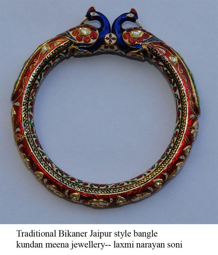 enameling on gold, bangle traditional bikaner  > art by soni bikaner