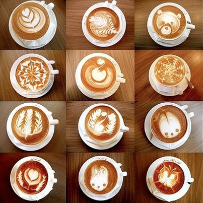Coffee art: Sometimes its free-poured, sometimes it's etched.  But always as an expression of passion, it makes us smile! Come on a coffee tour and get your own! http://green-coffee-800.com/