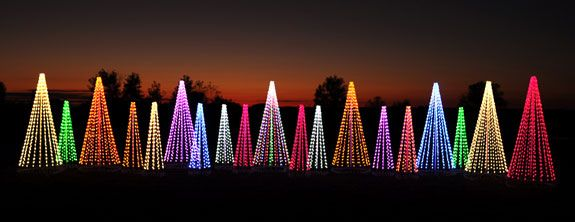 Commercial Outdoor Christmas Tree Decorations, LED Lights