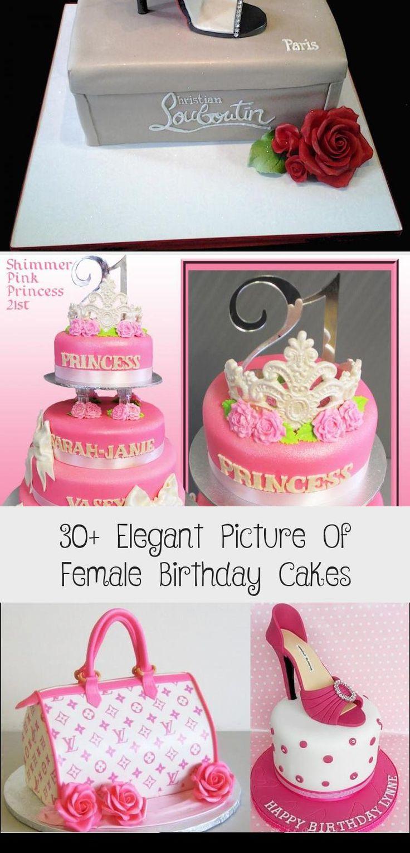 30 elegant picture of female birthday cakes cake 21st