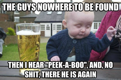 love this drunk baby.