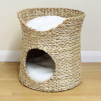 Me & My 2 Tier Woven Cat/Kitten Bed Raised Twin Basket