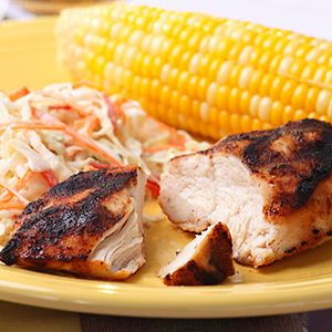 Sweet and Savory Grilled Chicken  							  								This sweet and savory rub for grilled chicken relies on ingredients you most likely have on hand already — brown sugar, dry mustard, and onion powder — making it a quick recipe for a night when you're not sure what you're making for dinner.