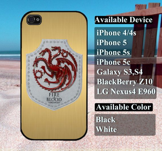 Game of thrones Targaryen case  iPhone 4/4s iPhone5 by vallenshop, $13.50