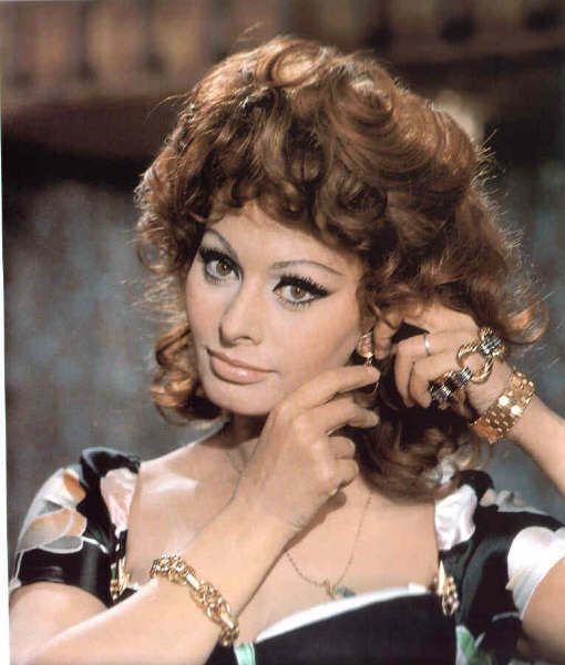 sophia loren in marriage italian style - Sophia Loren Hair Color