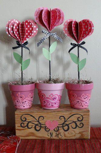 Needles 'n' Knowledge: DIY Lolly Hearts Flowerpots