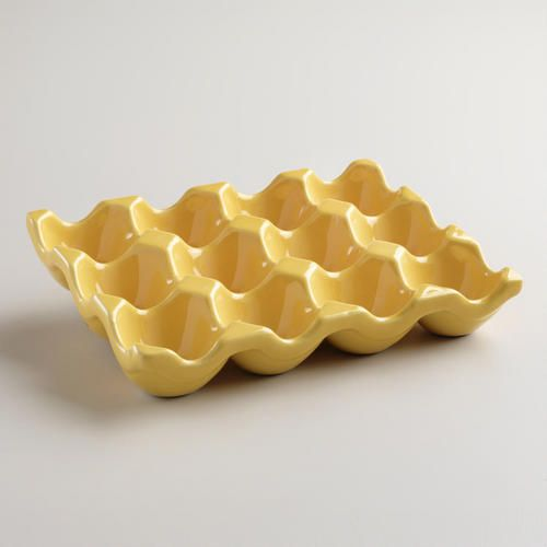 One of my favorite discoveries at WorldMarket.com: Ceramic Egg Crate