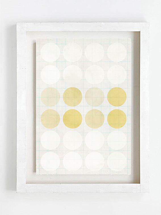 Print by Sophie Klerk, 'white & yellow*