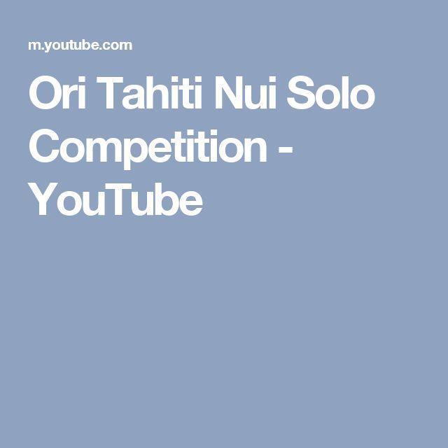 Ori Tahiti Nui Solo Competition - YouTube