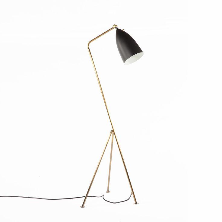 grasshopper floor lamp brass and black http www. Black Bedroom Furniture Sets. Home Design Ideas