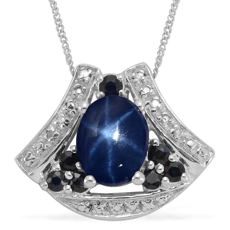 39 best thai blue star sapphire jewelry images on pinterest liquidation channel thai blue star sapphire kanchanaburi blue sapphire and diamond pendant with aloadofball Gallery