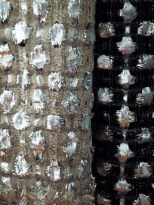Woven Textiles Design with natural & metallic fibres to create contrast, pattern & texture; textile manipulation // Hiroko Takeda