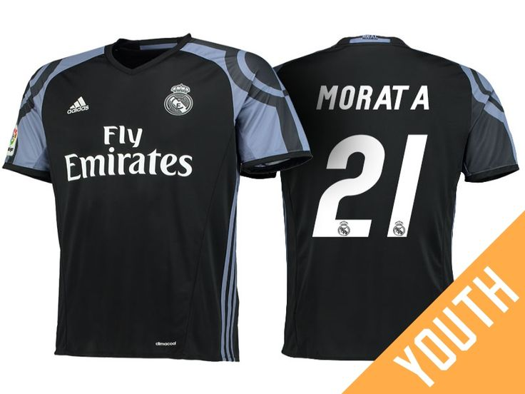 Real Madrid #21 Alvaro Morata 2016-17 Alternate Jersey - Youth
