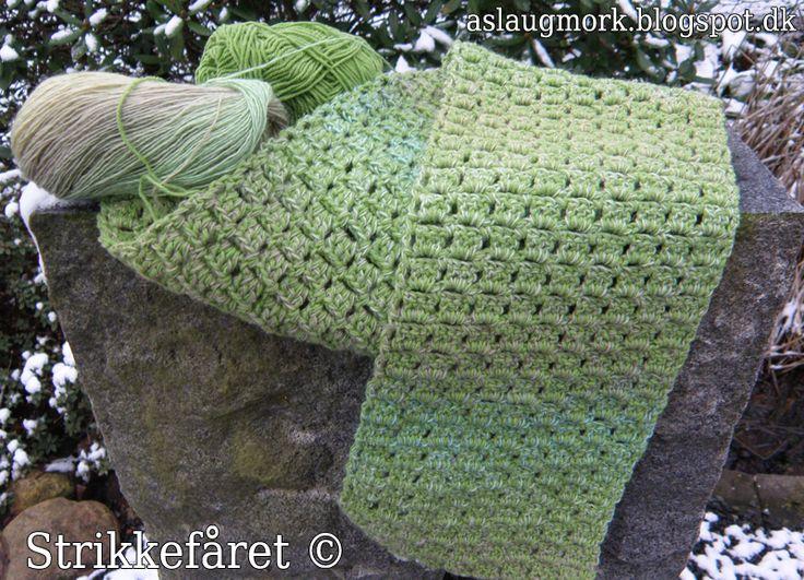 Hæklet grønt tørklæde