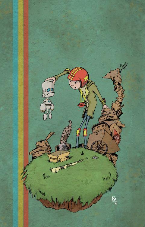 The Kid found a strange robot - TurboKid Fanart
