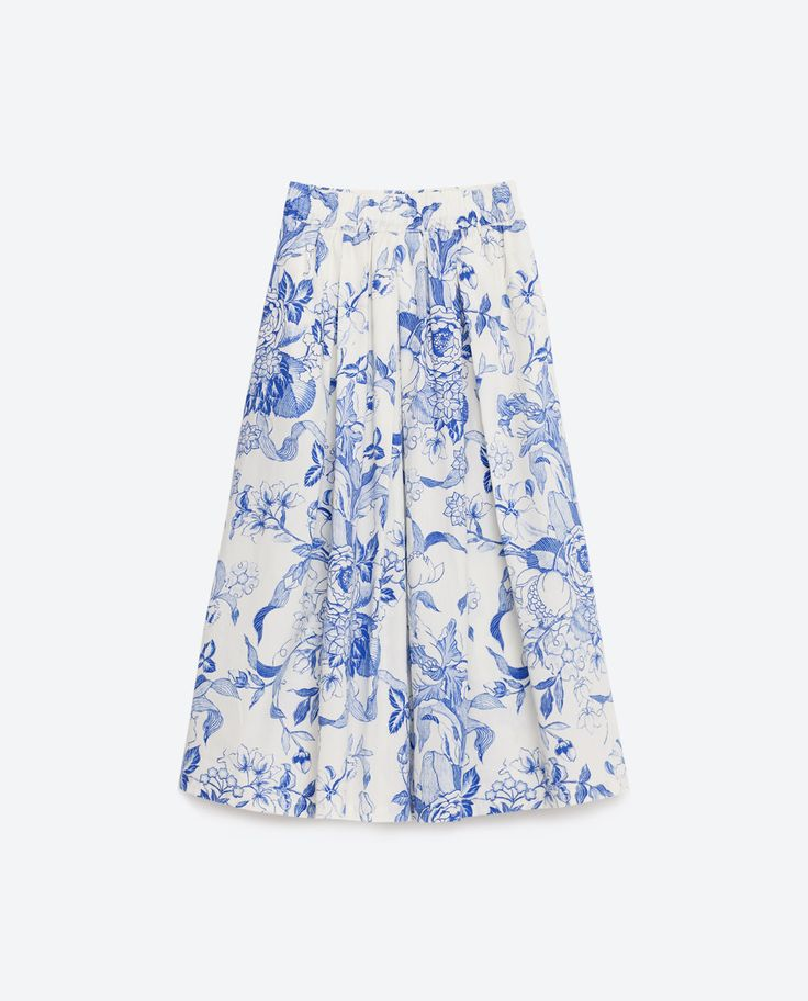Zara midi skirt - have to wear this with yellow or orange heels :D